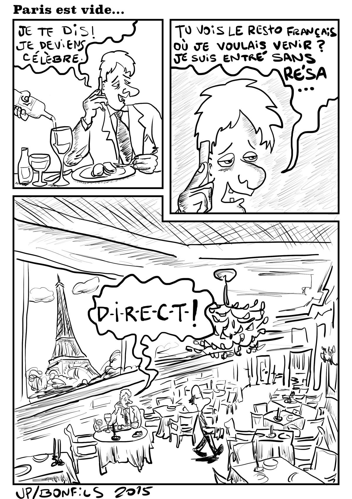 Paris est vide…