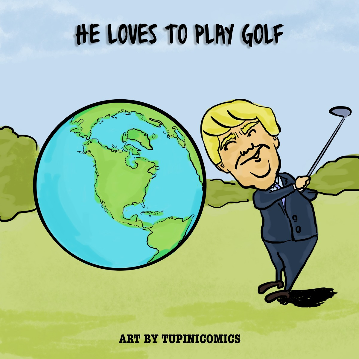 He loves to playgolf