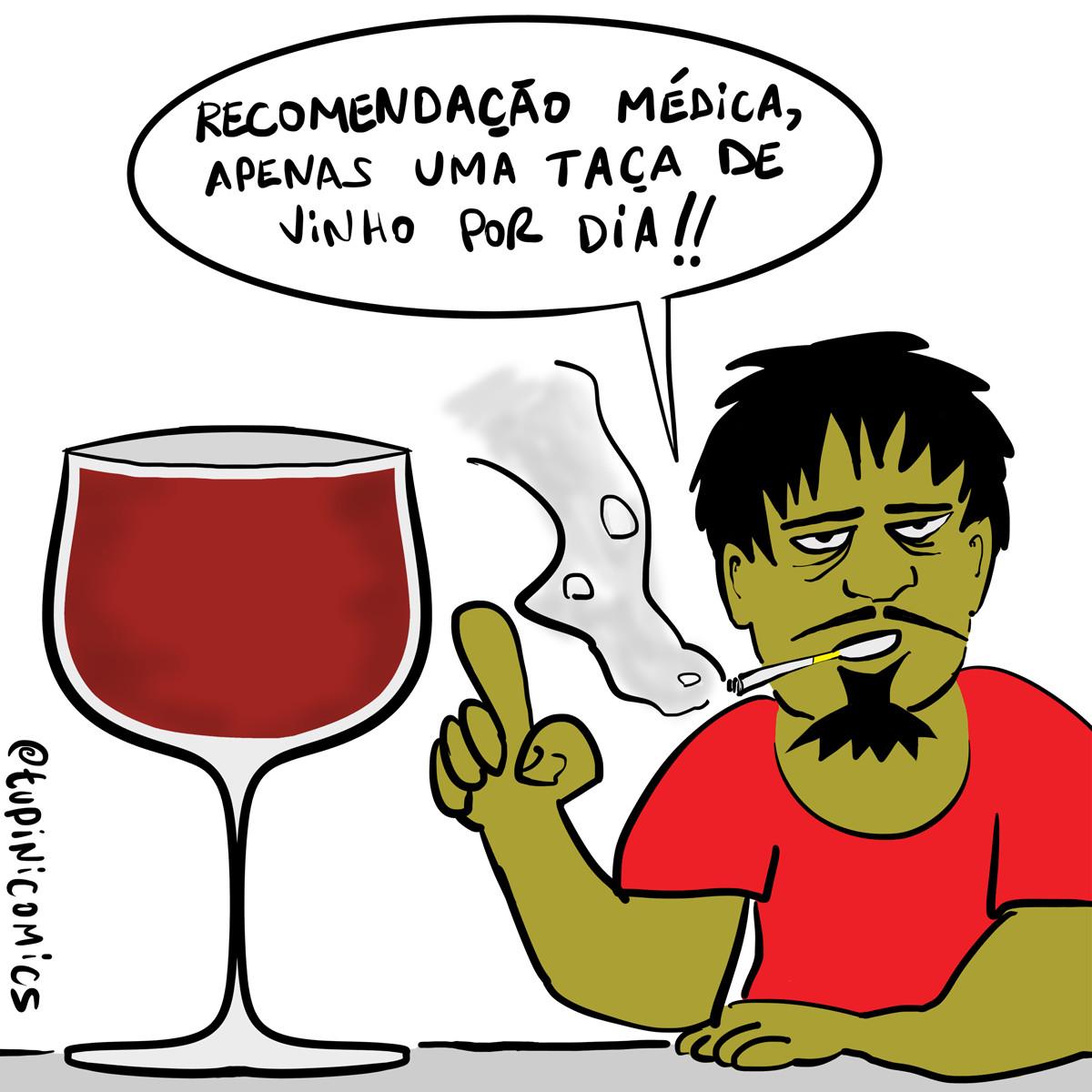 Totosco os benefícios de se tomar uma taça de vinhodiariamente